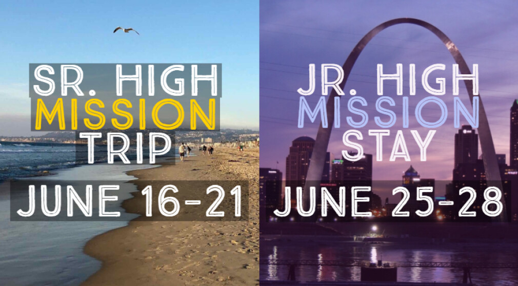 Sign Up for the Youth Mission Trip or Stay!