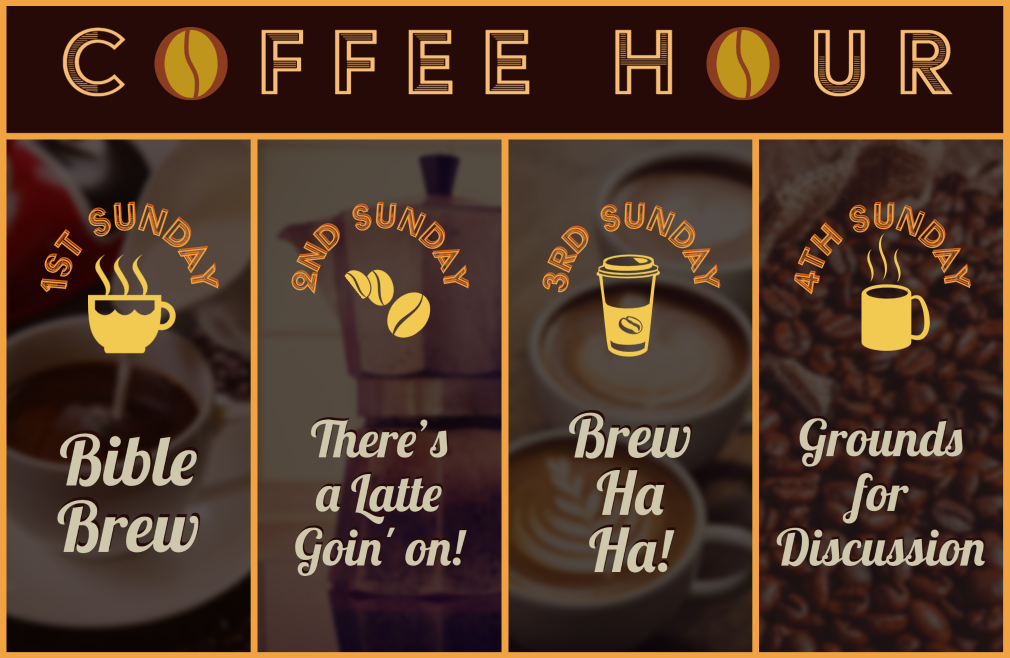 9:15 a.m. Coffee Hour on Zoom